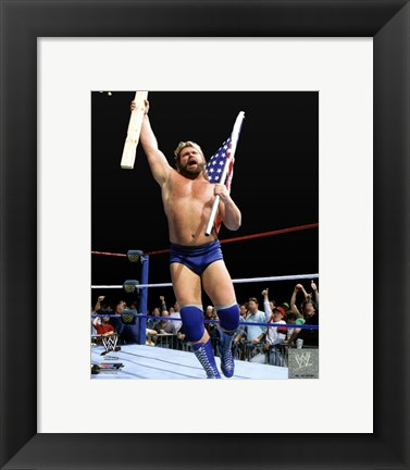 "Framed ""Hacksaw"" Jim Duggan Action Print"