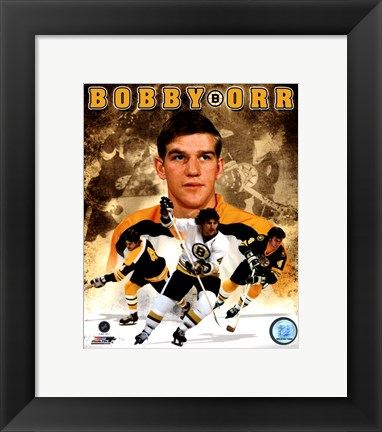 Framed Bobby Orr 2011 Portrait Plus Print