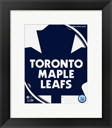 Framed Toronto Maple Leafs 2011 Team Logo Print