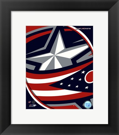 Framed Columbus Blue Jackets 2011 Team Logo Print