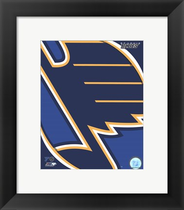 Framed St. Louis Blues 2011 Team Logo Print