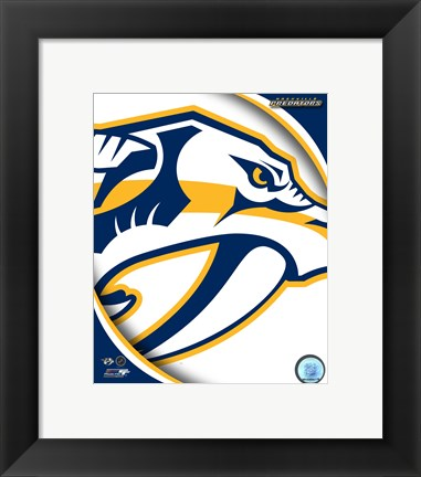 Framed Nashville Predators 2011 Team Logo Print