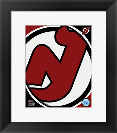 Framed New Jersey Devils 2011 Team Logo Print