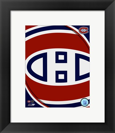 Framed Montreal Canadiens 2011 Team Logo Print