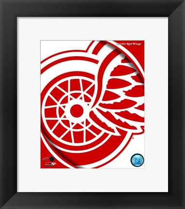 Framed Detroit Red Wings 2011 Team Logo Print