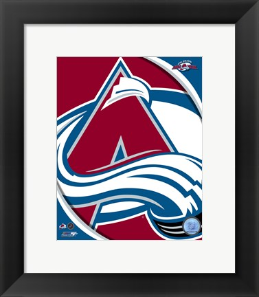 Framed Colorado Avalanche 2011 Team Logo Print