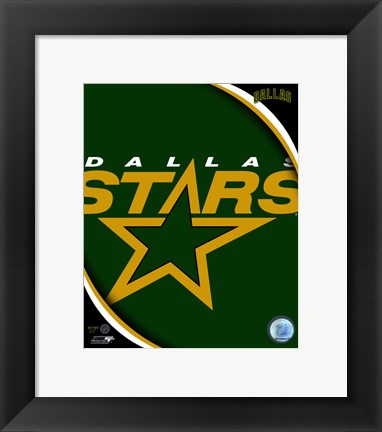 Framed Dallas Stars 2011 Team Logo Print