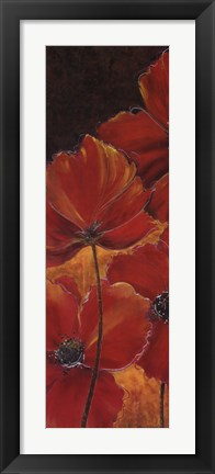Framed Midnight Poppy I Print