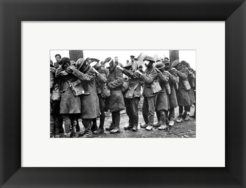 Framed British 55th Division Gas Casualties April 10,1918 Print