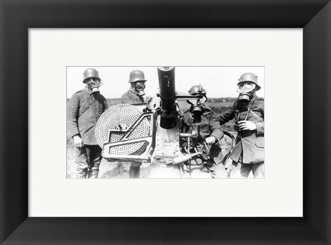 Framed German Soldiers 1915 Print