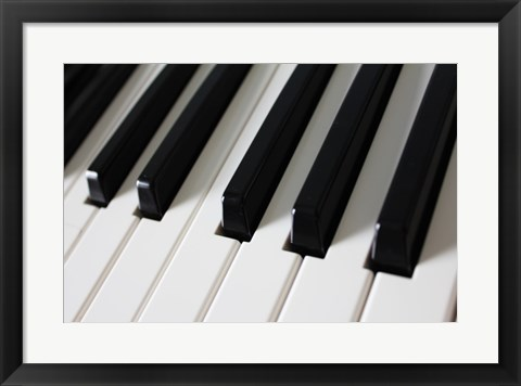 Framed Piano Keys Print