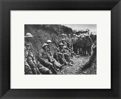Framed Royal Irish Rifles Ration Party Somme July 1916 Print