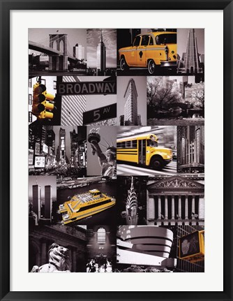 Framed New York (Collage) Print