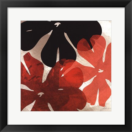 Framed Bloomer Tiles IV Print