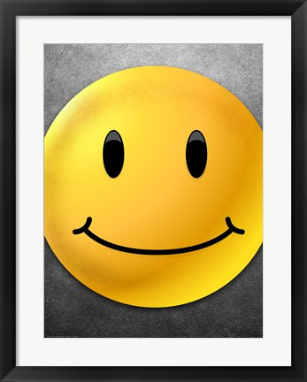 Framed Smiley Face Print