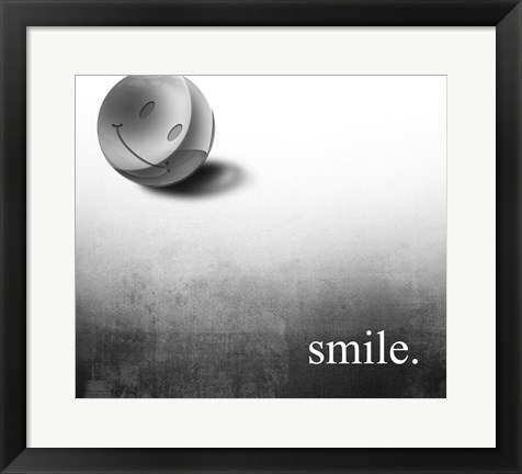 Framed Smile Print