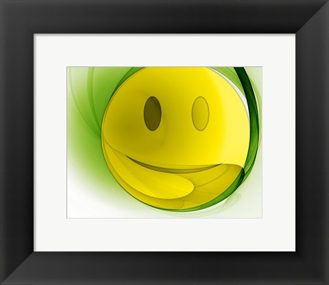 Framed Happy Face Orb Print