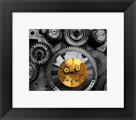 Framed Smiling Gear Print