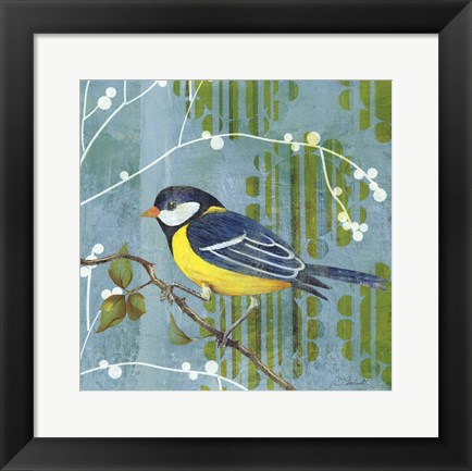 Framed Blue Sky Songbird II Print