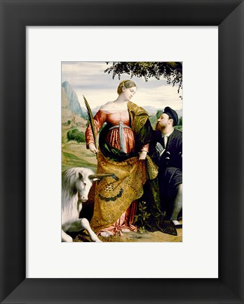 Framed Saint Justina with the Unicorn Print