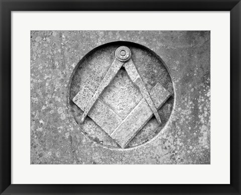 Framed Masons Compass Print