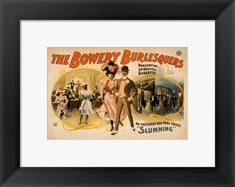 Framed Bowery Burlesquers Print
