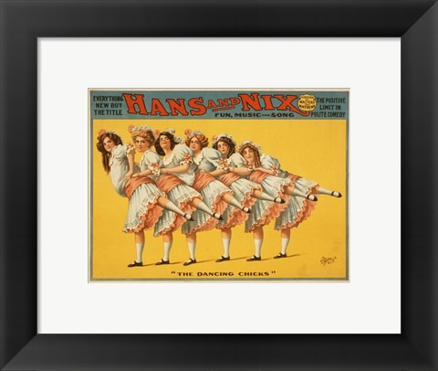 Framed Hans and Nix - Fun, Music and Song Print