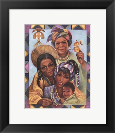 Framed Generations of Women Print