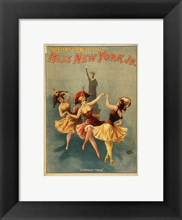 Framed Miss New York Jr. - A Midnight Frolic Print