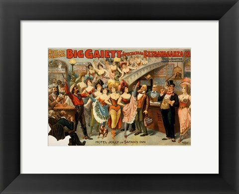 Framed Big Gaiety's Spectacular Extravaganza Co. Print