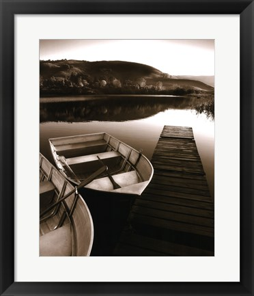 Framed Row Boat Awaits Print