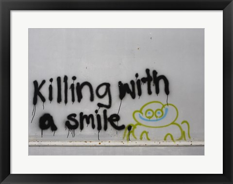 Framed Killing With a Smile - Singapore Print