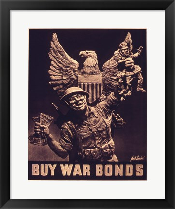 Framed Buy War Bonds Print