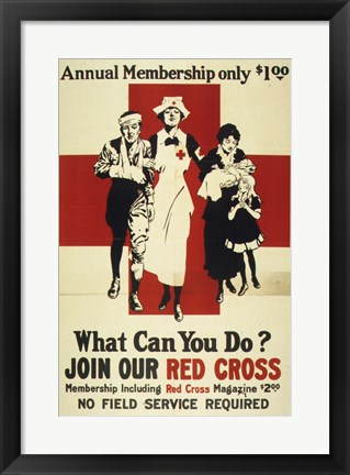 Framed Join Our Red Cross Annual Membership Print