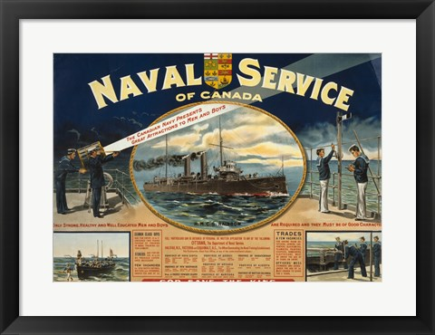 Framed Naval Service of Canada Print