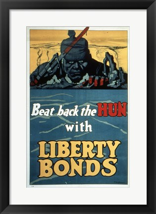 Framed Beat Back the Hun with Liberty Bonds Print