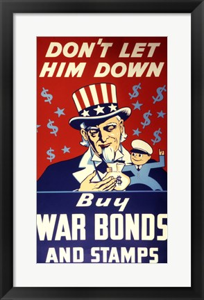 Framed Buy War Bonds and Stamps Print