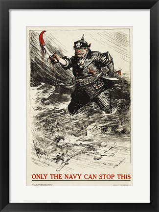 Framed Only the Navy Can Stop This Print