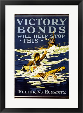 Framed Victory Bonds Print