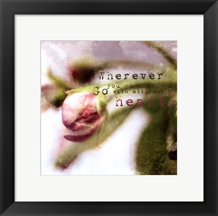 Framed Blossoming Inspiration III Print