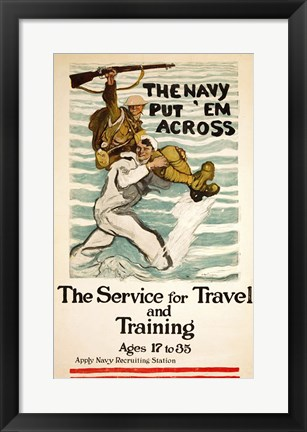 Framed Navy Recruitment Poster Print