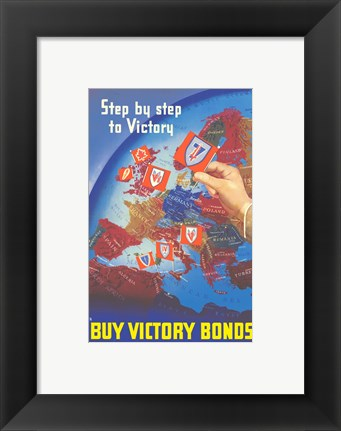Framed Step by Step to Victory Print