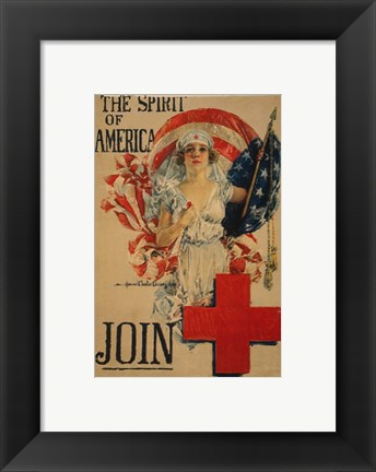 Framed Howard Chandler Christy WWI Poster Print