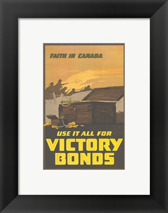 Framed Faith in Canada - Victory War Bonds Print