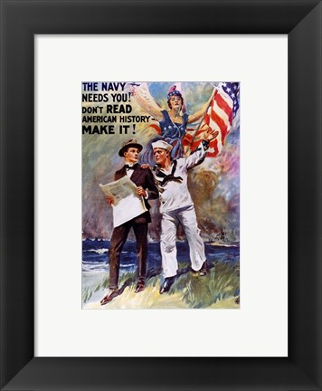 Framed Don't Read American, History Make It! Print