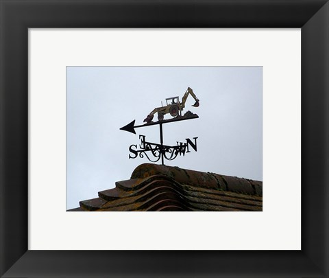 Framed Weathervane, Upper Mannington Print