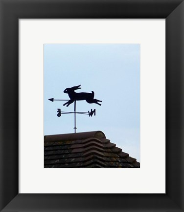 Framed Rabbit Weathervane Print