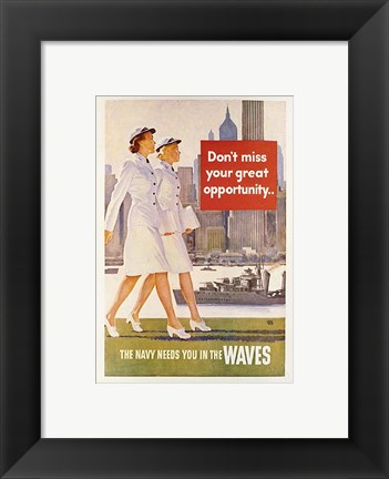 Framed Waves Recruiting Poster Print