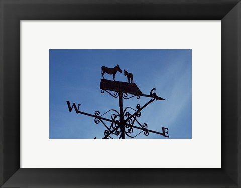Framed Donkey Lovers Weathervane Print