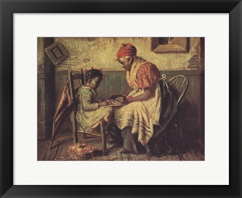 Framed Playing Checkers Print